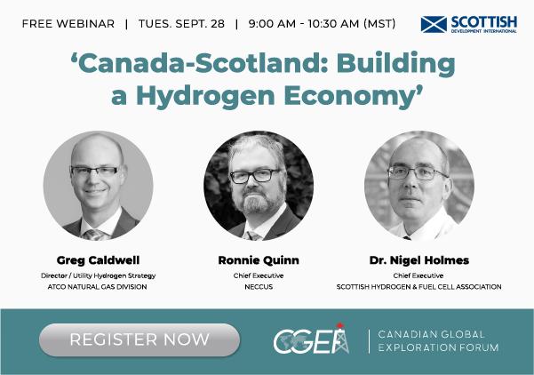 FREE WEBINAR Canada – Scotland: Building a Hydrogen Economy