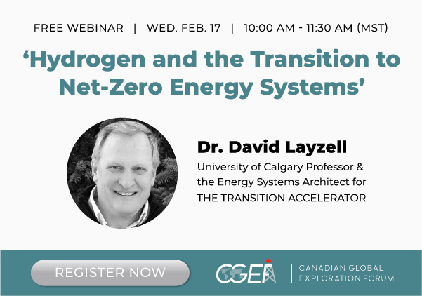 CGEF Presents: Recording of the 'Hydrogen and the Transition to Net Zero Energy Systems' Webinar