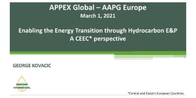 AAPG Presentation by George Kovacic at APPEX Global